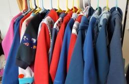 rack of hoodies